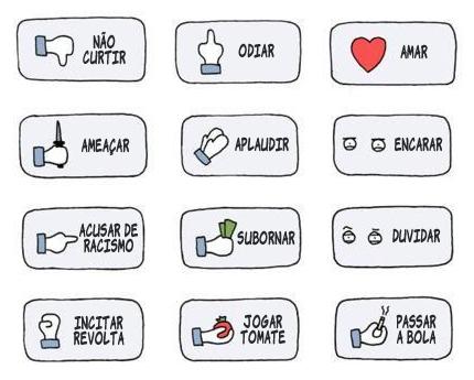 Botões que deveriam ter no Facebook